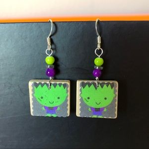 🎃Halloween Earrings Handmade Frankenstein NWT